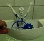 3D boat sinking