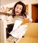 Printer problem woman