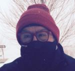 Frost on Boston snow