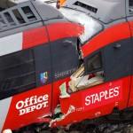 staples depot train crash