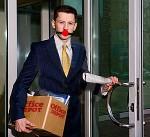 depot gagged man leaving