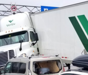 veritiv truck crash